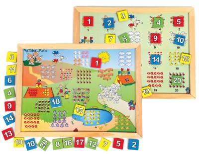 Skillofun Magnetic Twin Play Tray - Number Scene Board Game