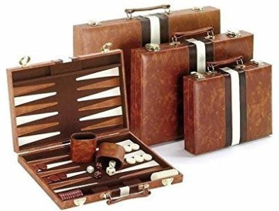 CHH classic backgammon setbrown/white Board Game