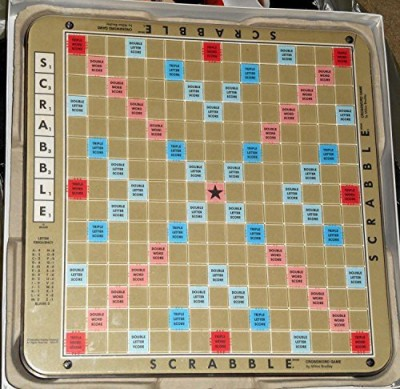 Selchow & Righter Scrabble Deluxe 1977 Edition Plastic Rotating Turntable Board Game