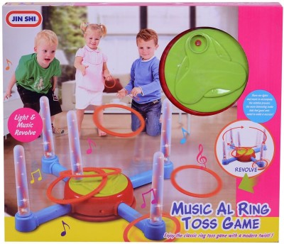 Planet of Toys Lights & Music Rotating Ring Toss Board Game