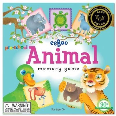 eeBoo Preschool Animal Memory Board Game