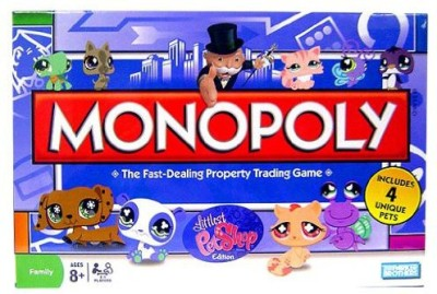 Hasbro Monopoly Littlest Pet Shop Board Game