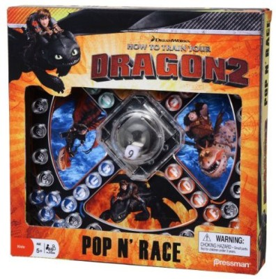 Pressman Toy How To Train Your Dragon 2 Pop ,N, Race Board Game