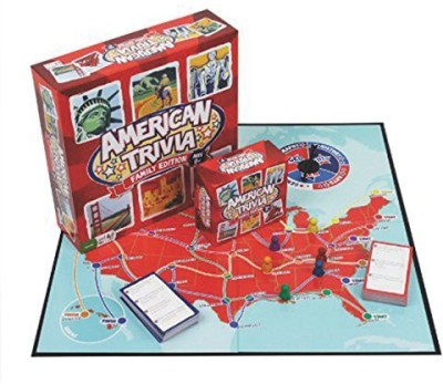 Outset Media Trivia American Trivia Family Edition (Ages 9+) Board Game