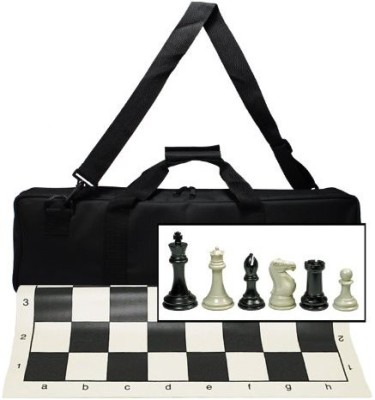 WE Games Ultimate Tournament Chess Set With New Silicone Chess Board Game