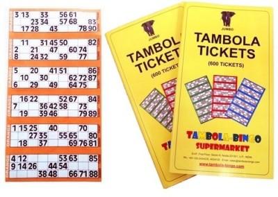 Tambola-Bingo Supermarket Tickets-Orange Border Board Game