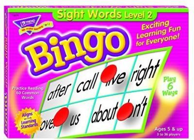 Trend Enterprises Inc Sight Words Level 2 Bingo Board Game