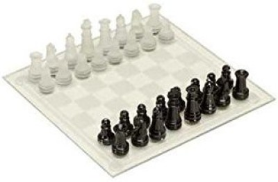 CHH Frosted Glass Chess Setblack/White Board Game