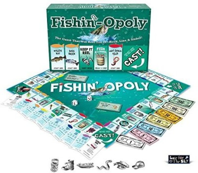 Late for the Sky Fishin,-Opoly Board Game