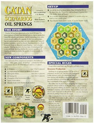 Mayfair Games Catan Scenarios Oil Springs Board Game