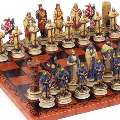Bello Games New York, Inc. Crusade Chessmen & Georgio Chess From Italy Largeking 4 1/2