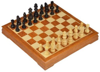 Yellow Mountain Imports Traditional Maple And Walnut Wood Chess Set 118