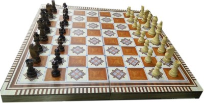 Iris 3-in-1 European Wood 401 International Chess Set ( Small ) Board Game