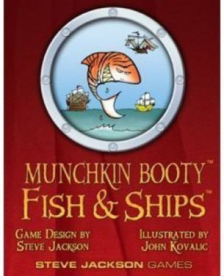 Steve Jackson Games Fish & Ships Booster Pack (1) Munchkin Booty Board Game