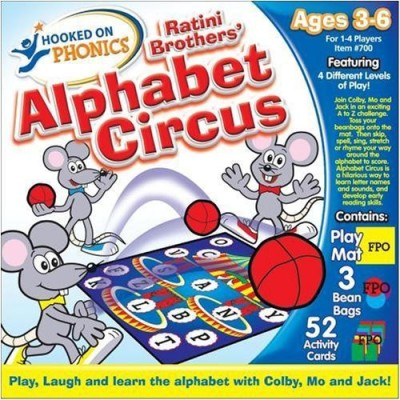 Endless Games Hooked On Phonics The Ratini Brothers, Alphabet Circus Board Game