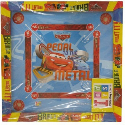 Disney 26 x 26 Inch Cars Carrom + Other Games Board Game available at Flipkart for Rs.919