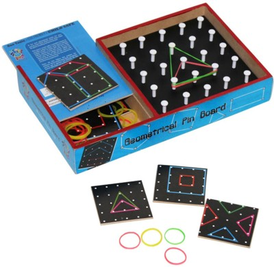 Skillofun Skillofun Travel Toy - Geometrical Pin Board Board Game