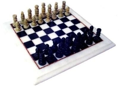 Stonkraft Collectible White Marble Chess Board Game Set with Stone Made Pieces Board Game
