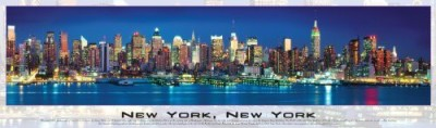 Buffalo Games Panoramic Puzzlenew York City Glow In The Dark 750Pc Board Game