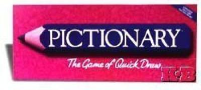 Milton Bradley pictionary Board Game