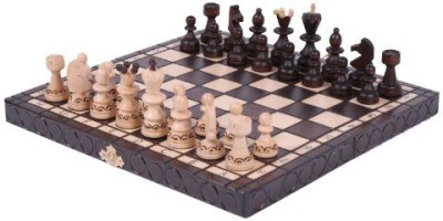 ChessCentral The Caliph Unique Wood Chess Setchess & Chess Piece Storage Board Game