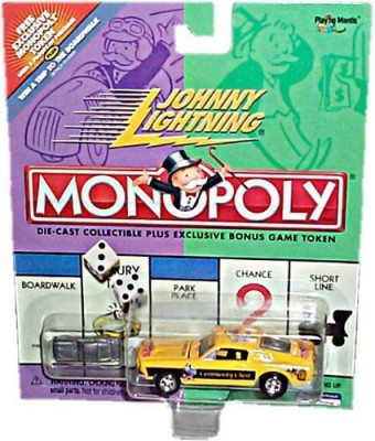 Johnny Lightning 2001 Monopoly Community Chest Ford Mustang Car Board Game
