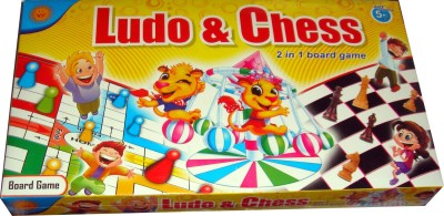 Toyzstation 2 in 1 Ludo and Chess Board Game