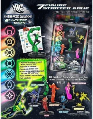 NECA Dc Heroclix Blackest Night 7 Starter Board Game