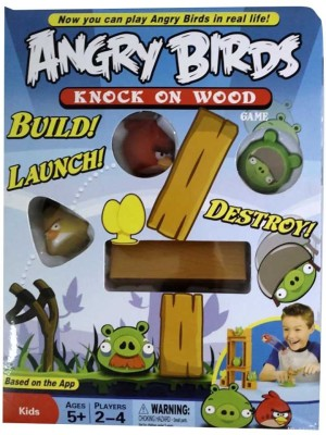 Toys Zone Angry Birds Knock on Wood Board Game