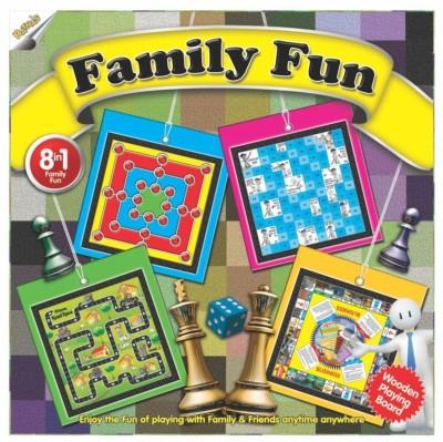 Ratnas Family Fun 8 In 1 Board Game