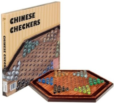 Yellow Mountain Imports Wooden Chinese Checkers 1175