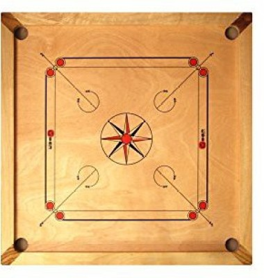 UBER Games Full Sized Carrom With Coinsstriker And Powder Kit Board Game