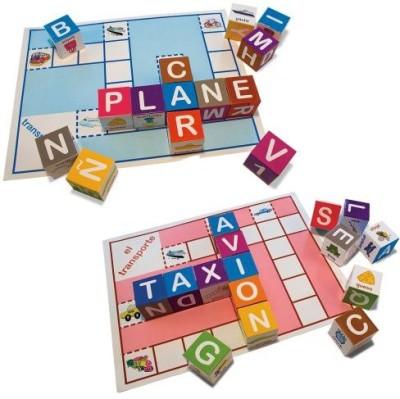 Ingenio Bilingual Crossword Blocks Board Game
