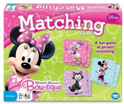 Wonder Forge Minnie Mouse Matching Board Game