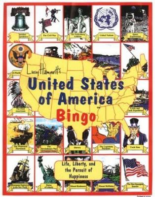 Lucy Hammett Games Lucy Hammett 2377 United States Of America Bingo Board Game