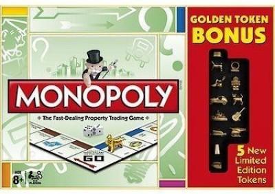 Monopoly Golden Token Bonus Edition Board Game