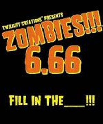 Twilight Creations Zombies 666 Fill In The Blank Board Game