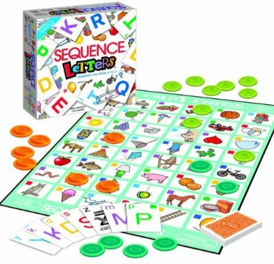 Jax Sequence Letters Board Game