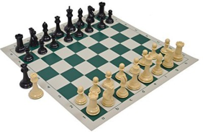Wholesale Chess Quadruple Weighted Chess Pieces And Vinyl Natural/Black Board Game