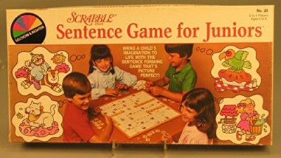 Selchow & Righter Scrabble Sentence For Juniors Board Game