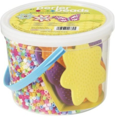 Perler Beads Sunny Days Activity Bucket Board Game