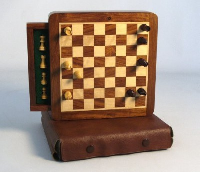 WorldWise Chess Magnetic Wood Chess Board Game