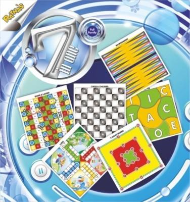Ratnas 7 In 1 Family Game Board Game