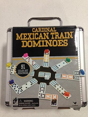 Cardinal Industries Mexican Train Domino In An Aluminum Case (Styles May Vary) Board Game