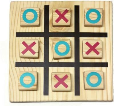 Lotus Wooden Tic Tac Toe GAme Board Game