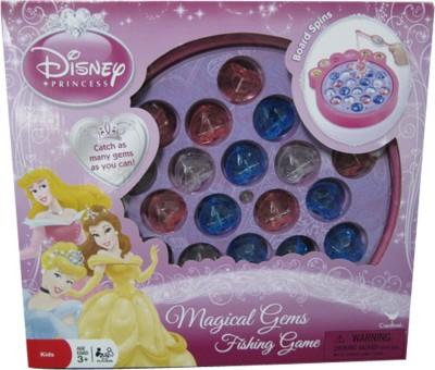 Cardinal Industries Disney Princess Magical Gems Fishing Board Game