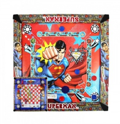 Kreative Kids 2 in 1 Carrom  20 inch    Superman Board Game available at Flipkart for Rs.474