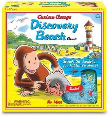Wonder Forge Curious George Discovery Beach (Vintage Edition) Board Game