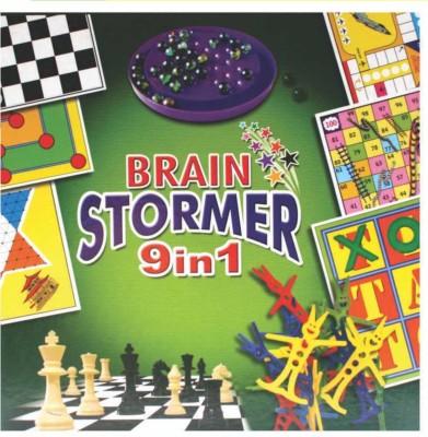 C J Enterprise Brain Stormer 9 In 1 Board Game