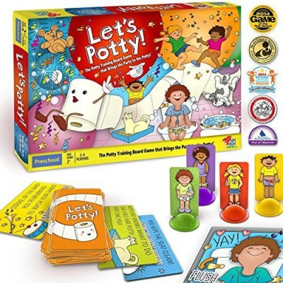 Let's Potty! Potty Training No More Diaperstoilet Train Toddlers Early Board Game